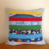 Striped Multi Coloured Cushion