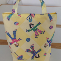 Girls Bag Featuring Clowns with Matching Purse