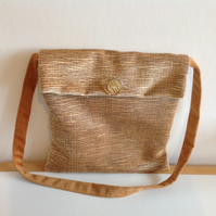 Gold Fabric Shoulder Bag