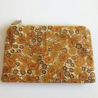 Paisley Design Make Up Bag