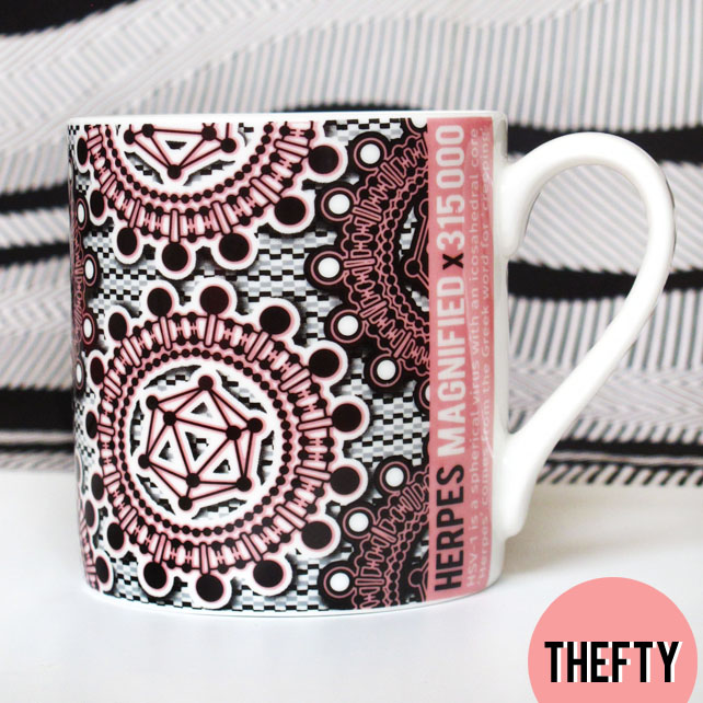 Retroviral Fine Bone China Mug: HERPES