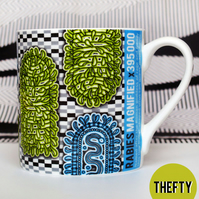 Retroviral Fine Bone China Mug: Rabies