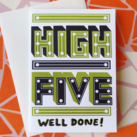 HIGH FIVE Congratulations Greeting Card