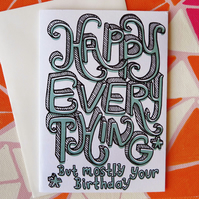 Happy Everything Birthday Card