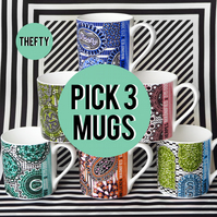 THREE Retroviral Mugs of your choice