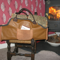 Leather log bag