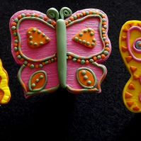 Butterfly Garden Cane Toppers