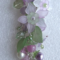 Lucite Flower Necklace (Lilac Time)