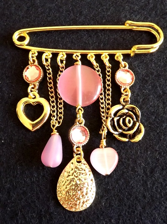 Kilt Pin Brooch (In The Pink)