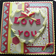 Love You, Valentine, Anniversary, Birthday, Card