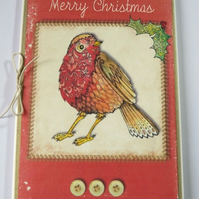 Robin Christmas Card( Pack of 5)