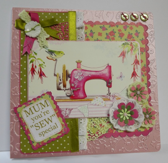 """Sew Special"" Mothers Day, Birthday, Greeting Card"