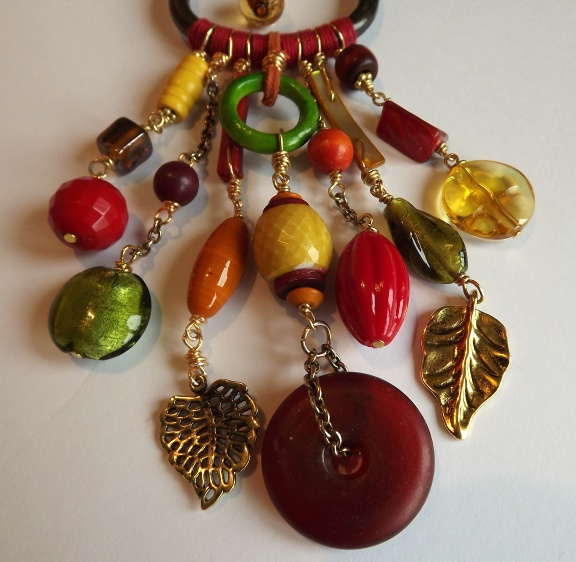 Upcycled Repurposed Buckle Necklace (Spiced)