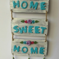 Rustic Style Home Sweet Home Wall Plaque