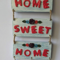 Home Sweet Home Rustic Style Wall Plaque