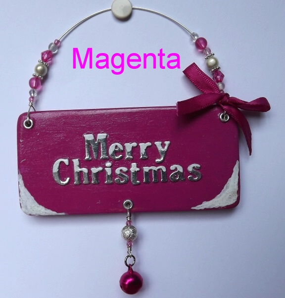 Merry Christmas plaque, tree decoration