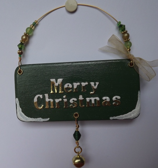 Christmas tree decoration, plaque.