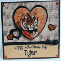 Tiger Valentine Card