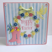 Floral Easter Wreath Card