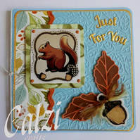Squirrel Blank Just For You Card