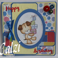 Puppy Dog Birthday Card