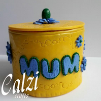 Polymer Clay Mum Trinket Box