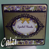 Pansy Thank You Card