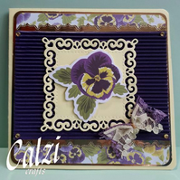 Pansy Blank Greeting Card