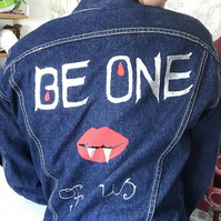 Lost Boys Themed Vampire Denim Jacket. Hand Painted and Studded. Punk Jacket.