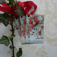 Vintage -style gift tags ' To My Valentine '( set of 3) ' '..ready to ship...