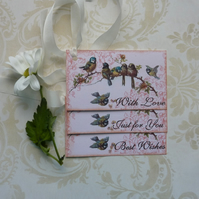 Vintage -style gift tags ' Gentle Birdsong '( set of 3) ' .ready to ship...