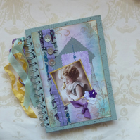 NOTEBOOK, journal, sketchbook  ' Parisian Songbird' ...Ready to ship......