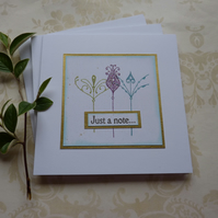 GREETINGS cards, Notecards 'Art Nouveau' ( pack of 3  )..ready to ship..