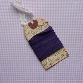 VINTAGE style  ribbon  ( silky seam binding) ;Regal Purple '4yds  ....