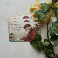 CHRISTMAS GIFT TAGS( set of 3) 'The Wish List '. Vintage-style..ready to ship...
