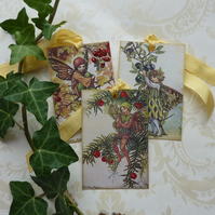 GIFT TAGS Vintage-style. Flower Fairies . 'Autumn 2'