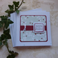 CHRISTMAS CARDS,pack of 4, ' Berries' ...ready to ship....