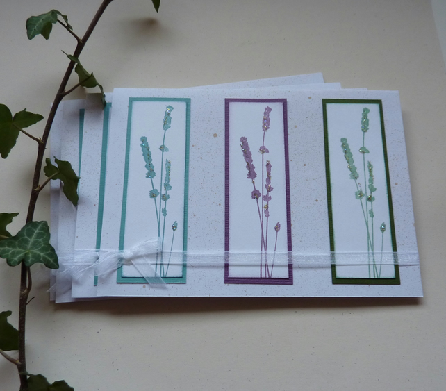 GREETINGS cards, large, blank ,(pack of 4) ' Sea Grass Trio'. .ready to ship....