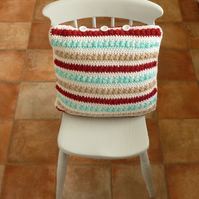 SALE .....CUSHION . ALPACA and wool blend. Scandi chic. ' Mitt Pretty Hus' .