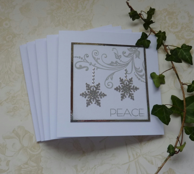 CHRISTMAS CARDS, (pack of 5) , 'All that glitters... ' ...ready to ship....