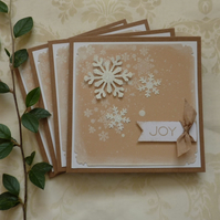 CHRISTMAS CARDS. Scandi-style. ' Snowfall' ( pack of 4) .