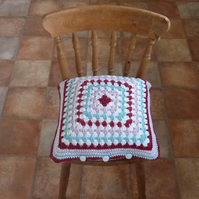 CUSHION  . Alpaca and wool blend. Super -soft . ' Country Rose'.