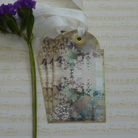 GIFT TAGS, vintage -style. ' Secret Garden'  ( set of 3)  '..ready to ship...