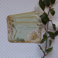 GIFT TAGS, vintage -style. ' French Rose '  ( set of 3)  '..ready to ship...
