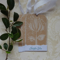 GIFT TAGS. Woodcut style.' The Rose '  ( set of 3)  '..ready to ship...