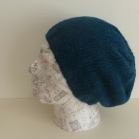 MENS Slouch Hat .Alpaca and wool blend. Knitted . 'The Mariner' .