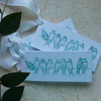 GIFT TAGS, hang tags. Wedding . Blank. ( pack of 3 ) 'Home to Roost'.
