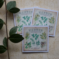 GIFT  TAGS  ( set of 3 ) ' Herbes de Provence'... ready to ship..