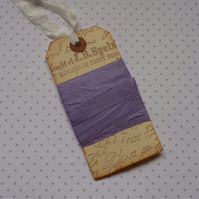 VINTAGE style  ribbon  ( silky seam binding). 4yds.  '  Lilac' .