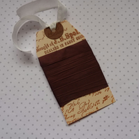 VINTAGE-style ribbon. 4 yds. Silky seam binding . Chocolate. Brown .